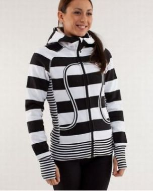 Lululemon Hoodie,Lululemon Yoga pants,Lululemon canada,Lululemon outlet,Lululemon Yoga Scuba Hoodie White Black Stripe