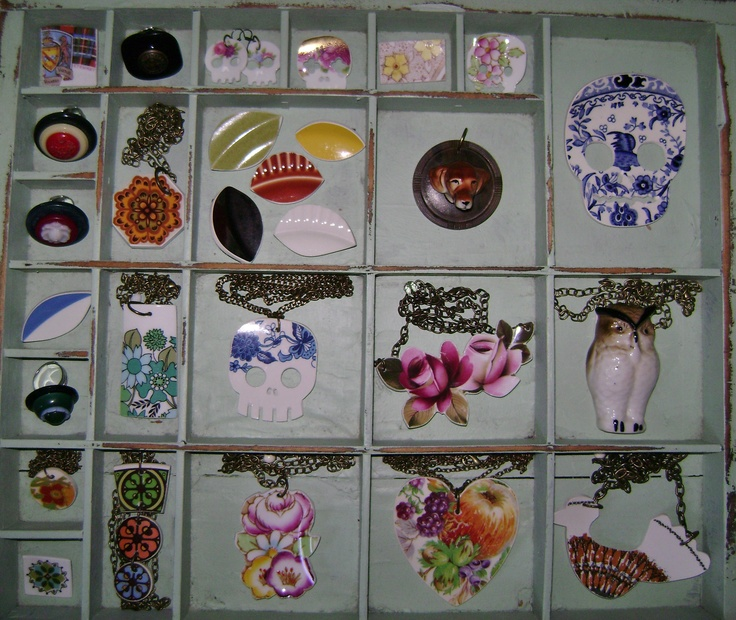jewellery created from upcycled ceramics