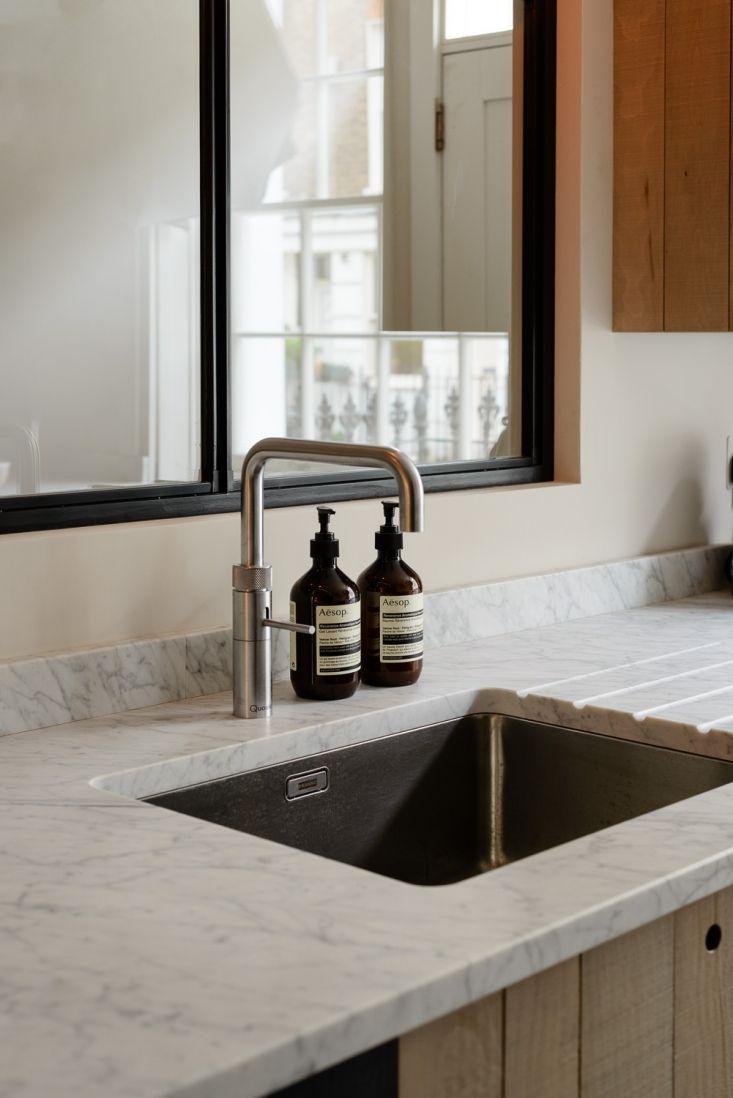 honed carrara marble sink counter in the the marylebone london rh pinterest com