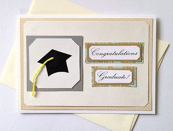 Congratulations Graduate Handmade Graduation greeting card by aSteadyPaceStudio