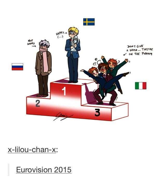 I still don't even understand what Eurovision is but I love it --- fricken love Eurovision