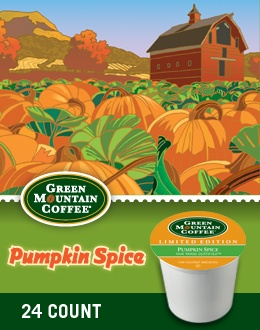 Green Mountain Coffee - Pumpkin Spice...Love pumpkin everything!!! expecially in my coffee!!!