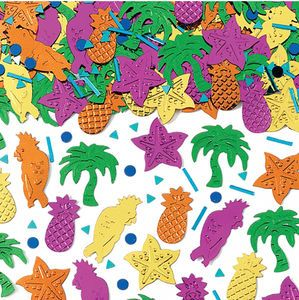 Tropical Party Table Confetti - hen party styling
