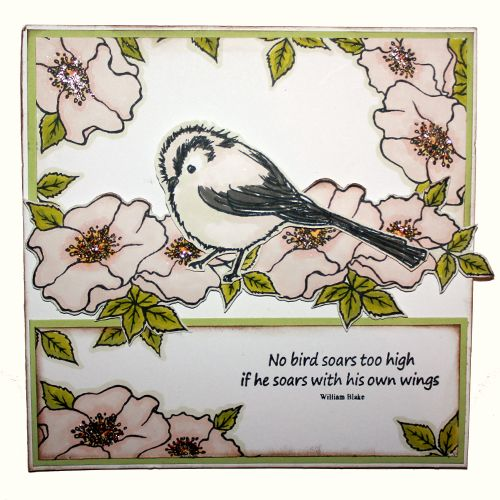 This is the gorgeous new 'Garden Birds' set designed by Sharon Bennett for Hobby Art. Card by Heidi Green