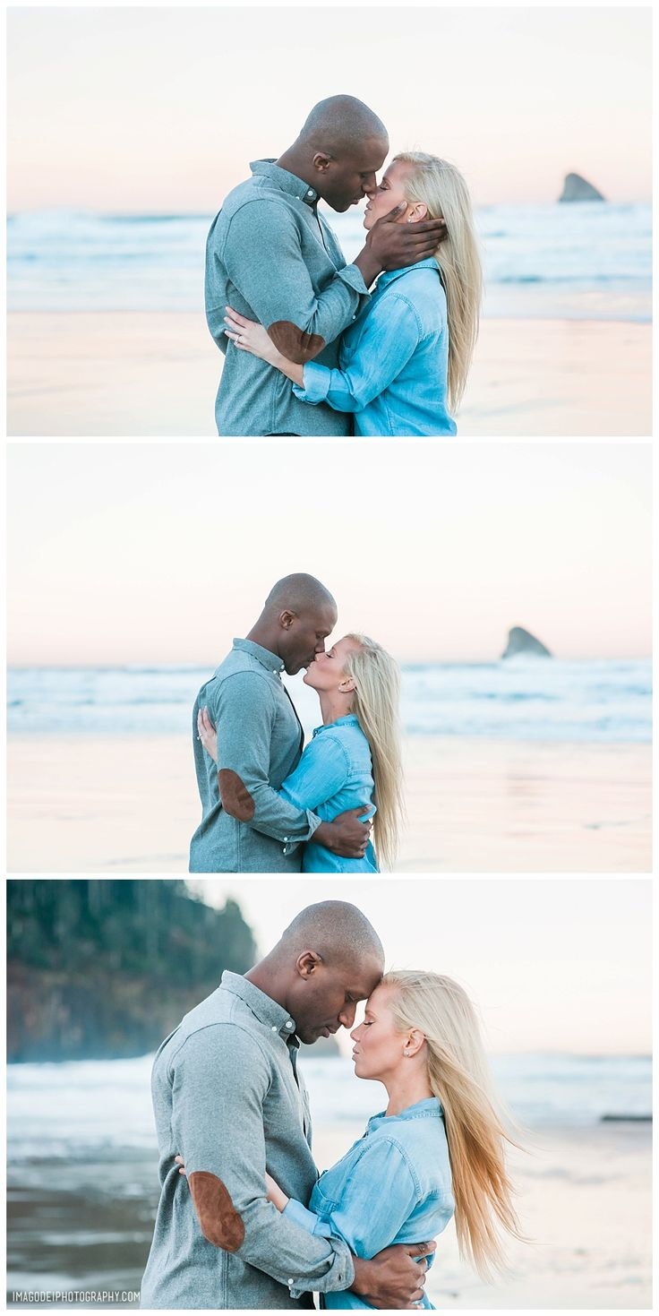 Sunrise Engagement Session on the beaches of Oregon.   View More: http://imagodeiphotography.pass.us/erin-and-rich