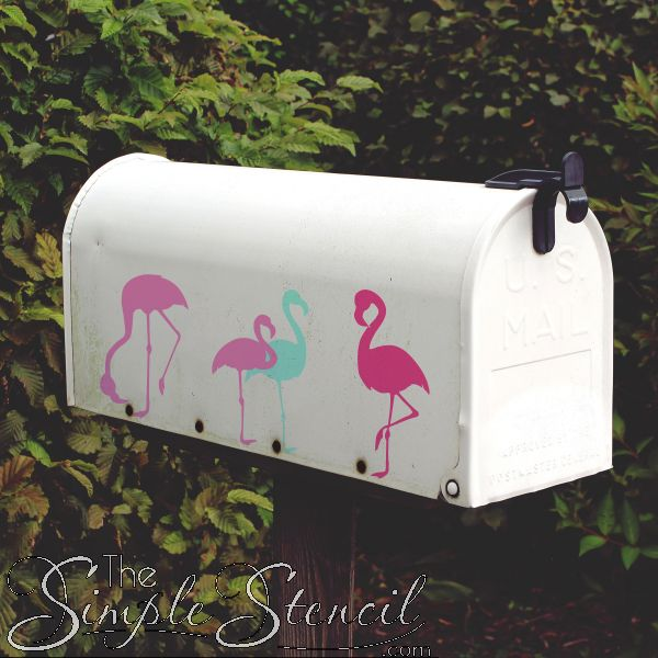 Flamingo mailbox decals, let your neighbors know your home is a tropical paradise!