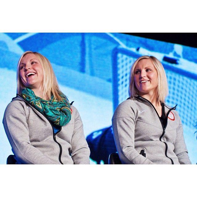 The Team USA Women's Hockey Team has a pair of twins! Jocelyne and Monique Lamoureux. #mediasummit #hockey