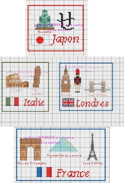 France - country - point de croix - cross stitch - Blog : http://broderiemimie44.canalblog.com/