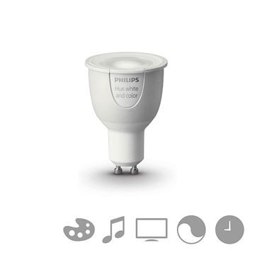Bec LED Philips Hue, GU10,White and color ambiance Catalog Philips Hue https://www.etbm.ro/philips-hue-connected-lighting in gama completa disponibil pe https://www.etbm.ro