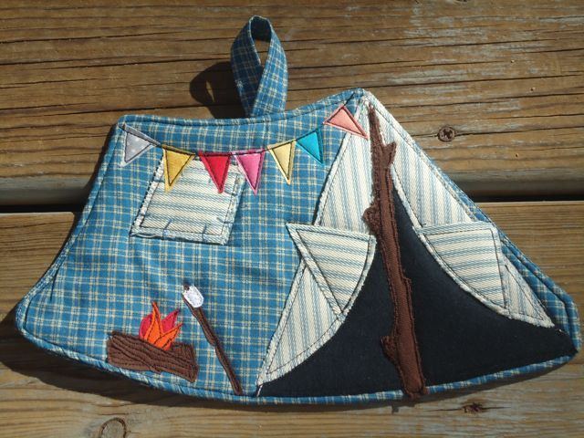 Camping Tent Potholder made to order by BSoriginals on Etsy