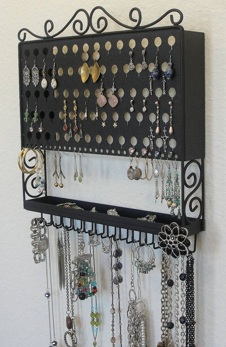 10 images about jewelry display ideas on pinterest for Jewelry organizer ideas