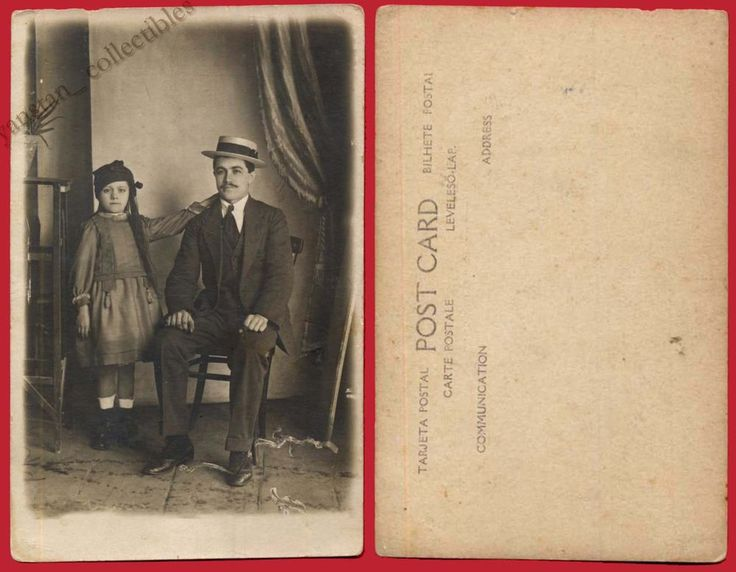 #19421 Greece 26.5.1929. Father and daughter. Photo PC size.