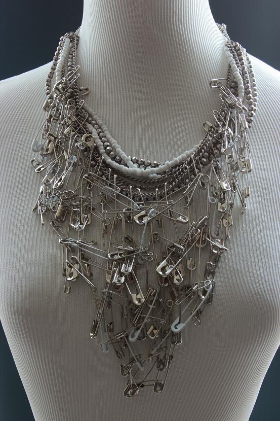 Awesome bobby pin bib necklace