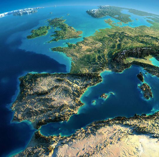 Best Maps Images On Pinterest Maps Basins And Colors - Europe terrain map