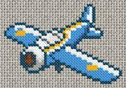 27/07/11 : Grille de point de croix gratuite - Avion