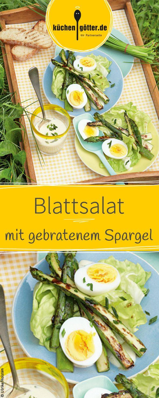 Frisch und Knackig, so lieben wir Spargel. Probiert doch mal unser frühsommerliches Rezept für Blattsalat mit gebratenem Spargel.