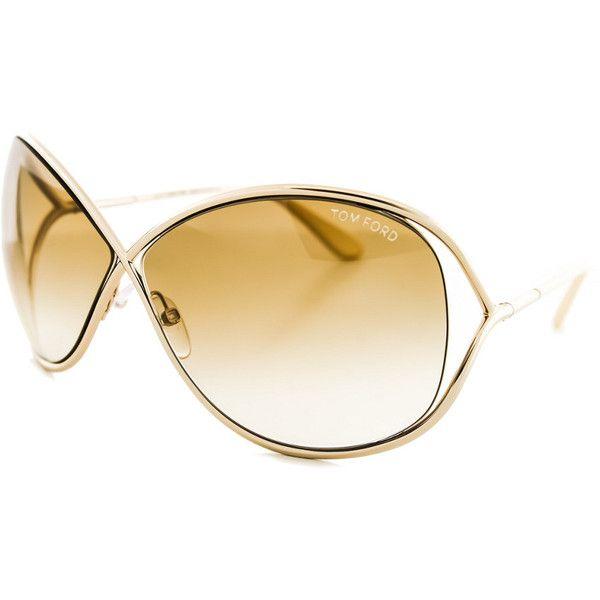 Tom Ford Women's Miranda 68Mm Sunglasses (1.265 DKK) ❤ liked on Polyvore featuring accessories, eyewear, sunglasses, nocolor, tom ford eyewear, tom ford sunglasses, wide glasses, tom ford glasses and lens glasses
