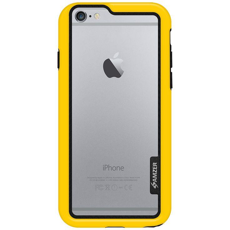 Boční kryt na iPhone 6, 6s Amzer Border Case AMZ97286 žlutý