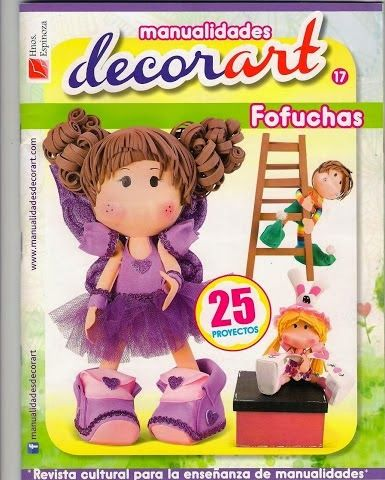 Fofuchas. http://tuimaginaycrea.blogspot.mx/2014/02/revista-decoart-17.html