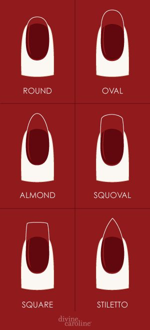 How to Shape Your Nails | Divine Caroline Find the right nail shape for you. #divinecaroline #nails #nailshape