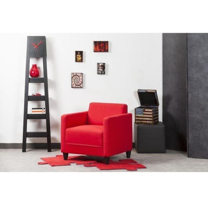 FAUTEUIL FINLANDEK Fauteuil KULMA 68x70cm tissu rouge