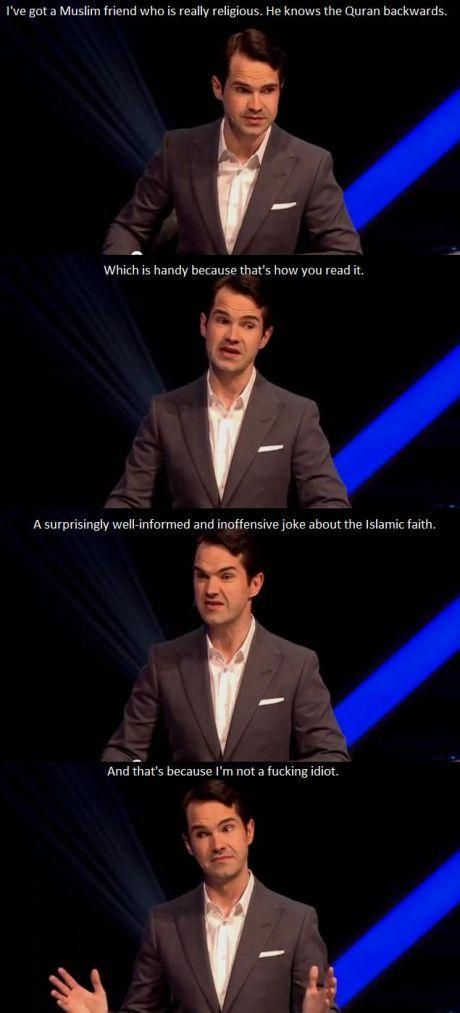 Jimmy Carr dishing it out...