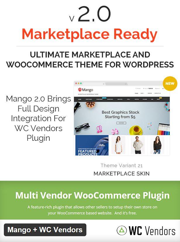 Our brand new Marketplace feature (Demo 21) is for everyone who wants to create a marketplace or multi-vendors website using WC Vendors plugin – The #1 Free Multi-Vendor WooCommerce Plugin. T...