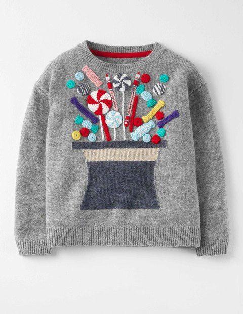 Mini Boden Boys' Wonka Hat Sweater