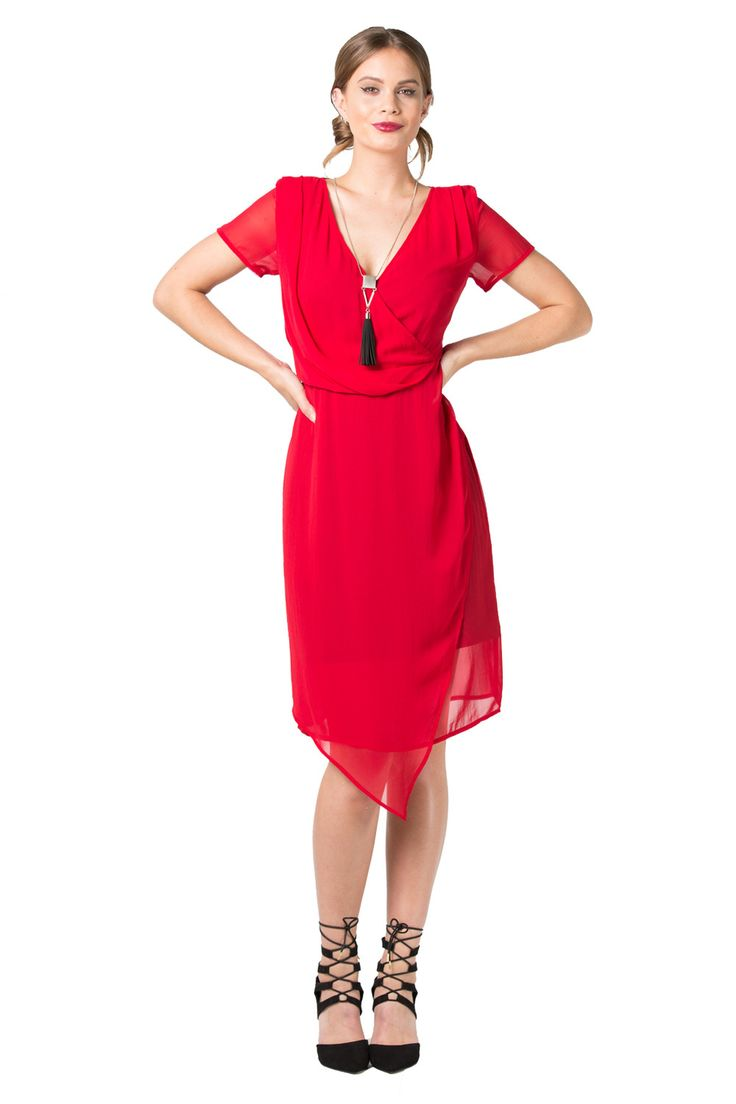 Red Wrap Dresses | Annah Stretton | Designer Fashion