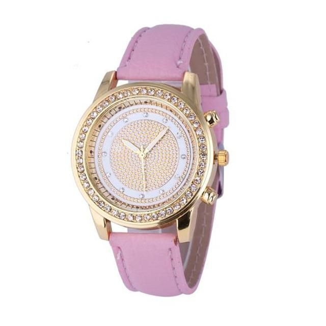 2016 New Women Bracelet Wristwatch ladies Crystal Geneva Watches Fashion Stainless Steel Quartz Wristwatches Relojes Mujer