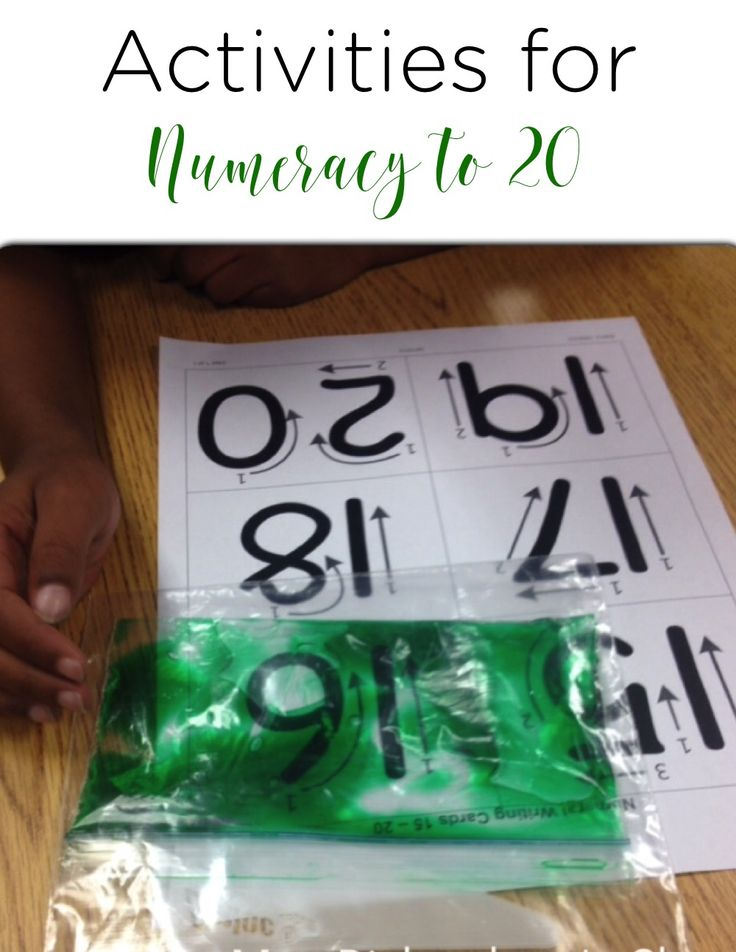 Activities for Numeracy to 20 that are hands on, easy for students to do, and engaging. These numeracy activities are perfect for kindergarten math and first grade math!