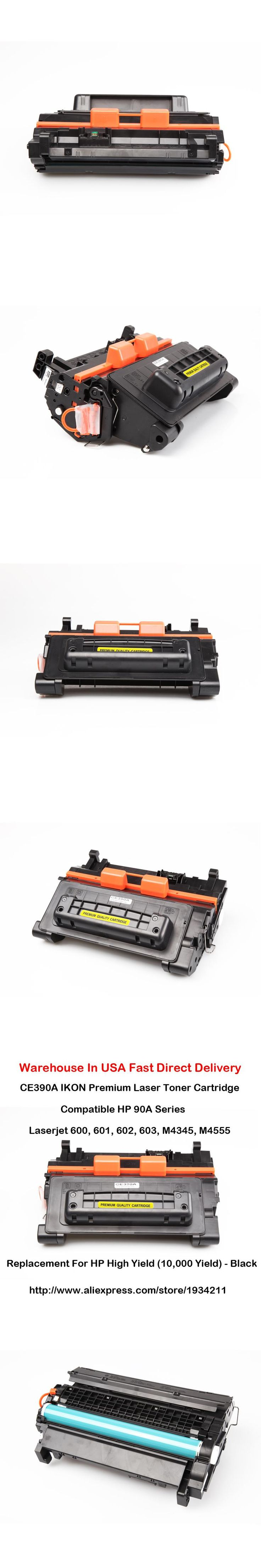 CE390A 90A Series Laser Toner Cartridge patible For HP LaserJet 600 601 602