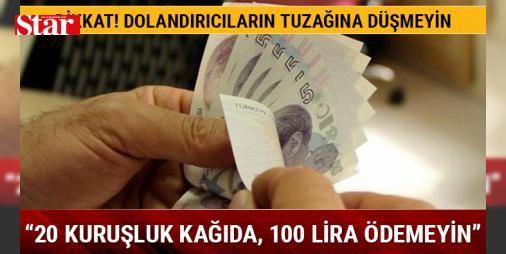 """""""20 kuruşluk kağıda 100 lira ödemeyin"""" : Tüketiciler Birliği Genel Başkanı Mahmut Şahin bankaların haksız tahsil ettiği paraları geri alabileceklerini söyleyen dolandırıcıların tüketicilere 20 kuruşluk başvuru formlarını 100 liraya sattıklarını belirterek tüketicilere dolandırıcıların tuzağına düşmemeleri uyarısında bulundu.  http://www.haberdex.com/turkiye/-20-kurusluk-kagida-100-lira-odemeyin-/105504?kaynak=feed #Türkiye   #tüketicilere #kuruşluk #ddırıcıların #başvuru #söyleyen"""