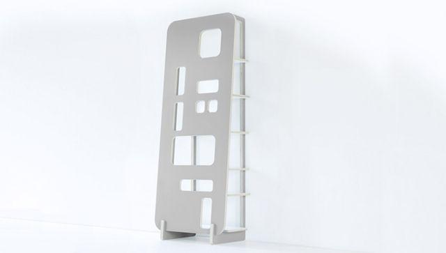 moderne regalwand holz taupe grau auschnitte | ideen-möbel, Möbel