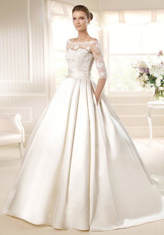 Silk ball gown with sweetheart neckline and empire waist I Style: Mega I by LA SPOSA I http://knot.ly/6491BLJAP
