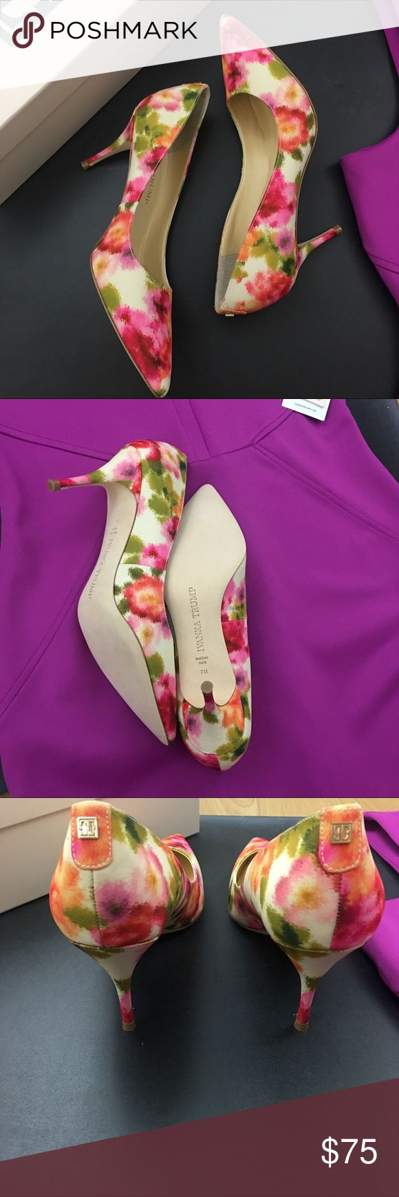 """New in a Box IVANKA TRUMP Heels Tirra2 Size 7 IVANKA TRUMP Heels Tirra2 Size 7M 3"""" Heels Her classic design is beautiful and classic!  Complements her dresses in my closet. Ivanka Trump Shoes Heels"""