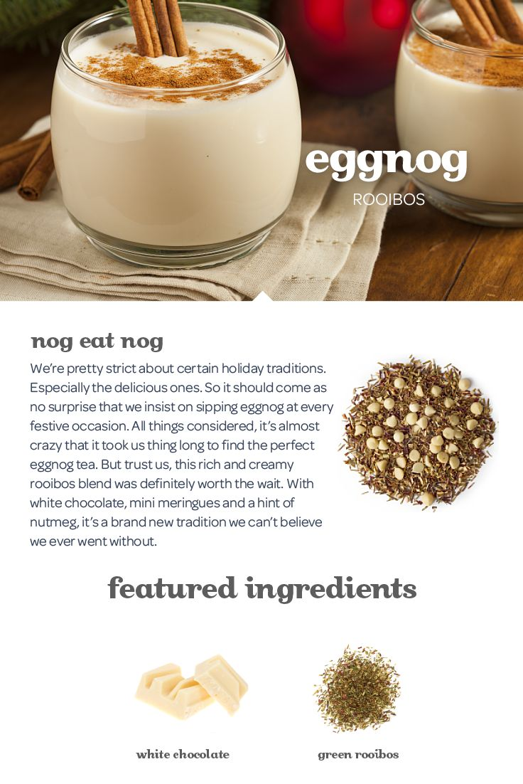 It just isn't the holiday without a hot cup of this creamy, nutmeg-scented blend.