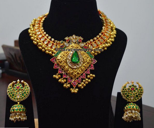 Exclusive Tussi Set by Parnicaa - Jewellery Designs