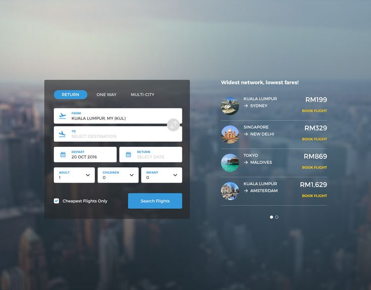 """Check out my @Behance project: """"Daily UI Challenge - Day 02: Flight Booking""""…"""