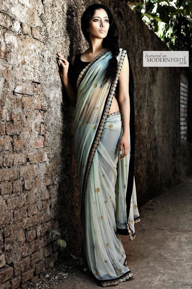 Bridal Indian Reception Saree - more inspiration @ http://www.ModernRani.com