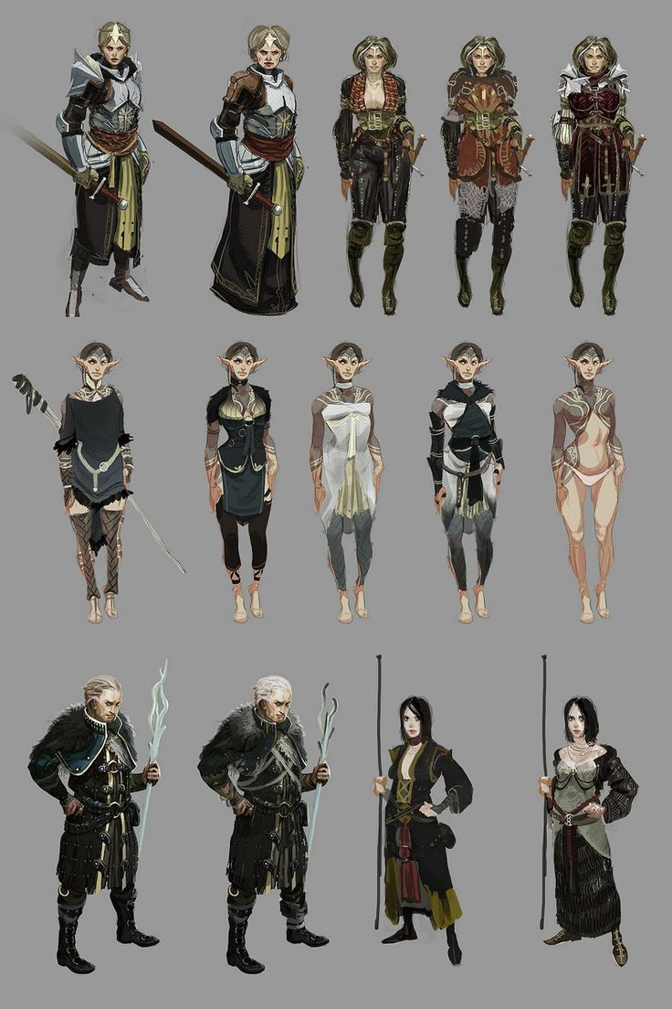 Character Design And Concept Art : Dragon age ii character concepts design