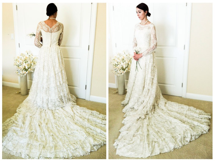 off white vintage bridal gowns