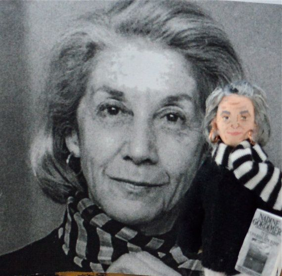 Nadine Gordimer Historical Doll Art Miniature by UneekDollDesigns