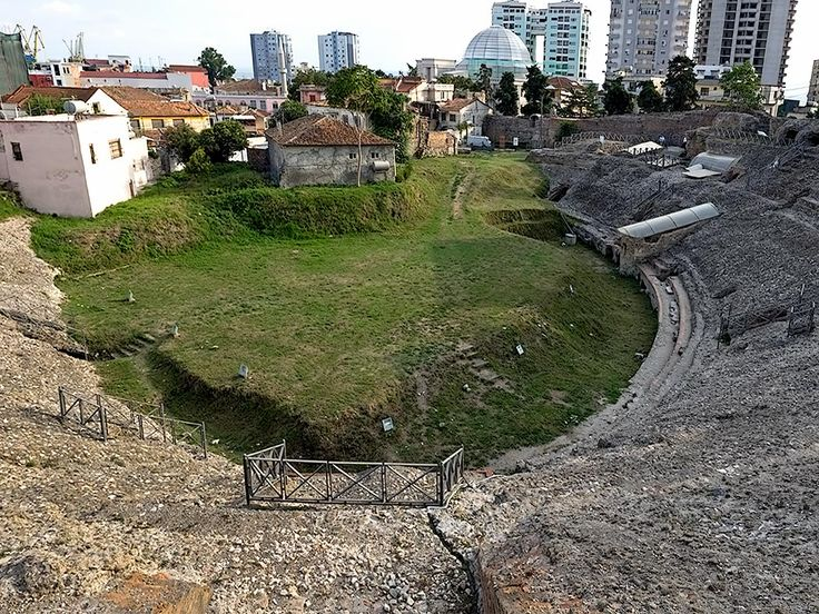 This Roman Amphitheater in Durres, Albania, is the largest ever found in the Balkans. It was discovered by a farmer who was plowing his fields.