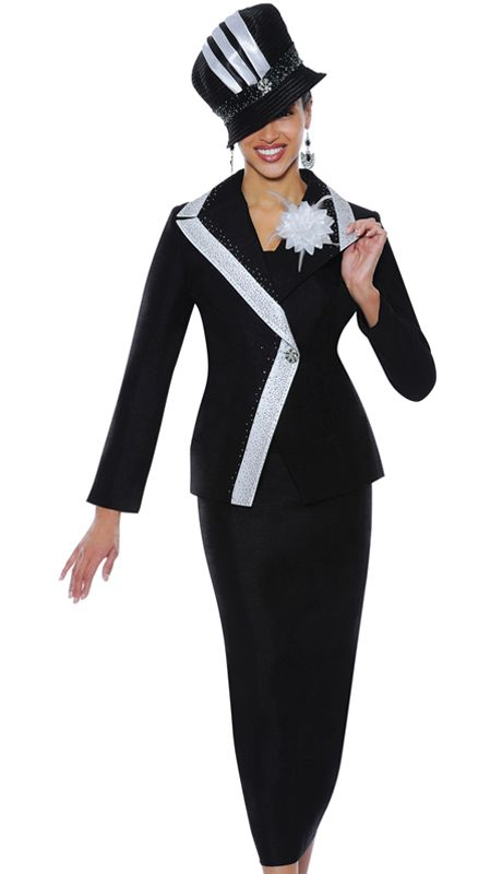 G4662-BLK-WE,GMI Fall And Holiday Church Suits 2014