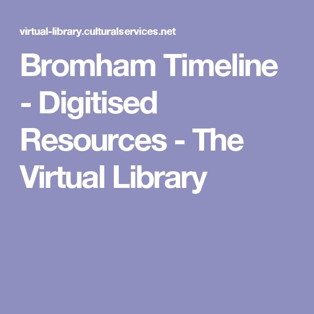 Bromham Timeline   - Digitised Resources - The Virtual Library