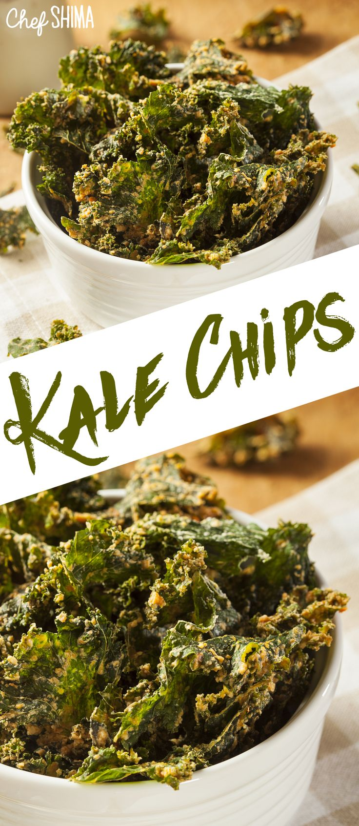 Green Kale Chips | Love this! Super healthy too.