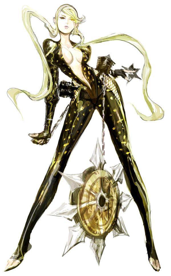Sengoku Basara series, Kasuga (look at her amazing weapon... :D)