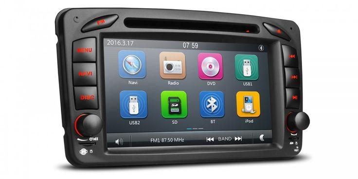 "7"" HD Pekskärm bilstereo, DVD för Mercedes A,G,C-class"