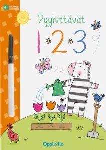Tämä iloisen värikäs puuhakirja johdattaa sinut numeroiden maailmaan. Harjoittele muotojen sekä numeroiden piirtämistä ja laske määriä. Pyyhittävät sivut ja tussi takaavat monen monituista onnistumista, yhä uudestaan ja uudestaan!
